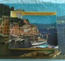 """VINTAGE TUCO INTERLOCKING PICTURE PUZZLE """"ITALIAN SEAPORT"""""""