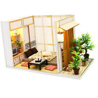 1:24 DIY Dollhouse Miniature Kits Wooden Handmade Creative Japanese Room