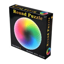 1000 Pieces Jigsaw Puzzle Colorful Rainbow Round Geometrical Educational Toy