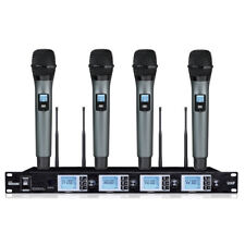 4x100 Channel Uhf 4 Wireless Vocal Handheld Microphone Set for shure wireless