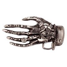Cowboy Vintage Skull Hand Western Belt Buckles Wings Ring Men's Accessories