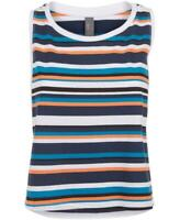 Sweaty Betty Orange Stripe Summer Crop Vest - Small