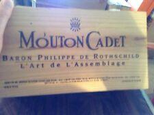 Mouton Cadet wooden box