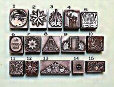 Art Nouveau, Art Deco & Diseños modernos bloques de impresión.