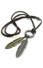 Jewelry Men's Ladies Necklace, Angel Spring Pendant with Leather Necklace Y7K6