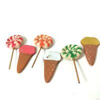 Vintage Refrigerator Kitchen Magnets Lot 6  Lollipop And Ice Cream Vanderbilt
