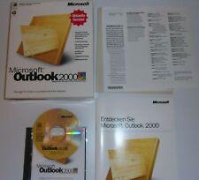 Microsoft Outlook 2000, Office, box, versión completa alemana, CD, Key, cuaderno, software