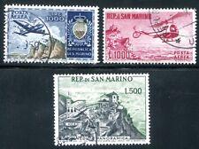 SAN MARINO 1954 512, 586, 696 gestempelt HÖCHSTWERTE FLUG 180€(D4580