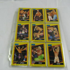 WCW World Championship Wrestling 162-Card Collection Numerical Order Collectible