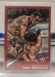 2011 TOPPS UFC MOMENT OF TRUTH ROOKIE RC DEBUT TONY FERGUSON #16 RUBY 7/8