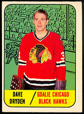 1967 68 TOPPS HOCKEY #57 DAVE DRYDEN RC EX+ CHICAGO BLACK HAWKS ROOKIE CARD