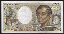 Billet 200 Francs MONTESQUIEU, 1985. France