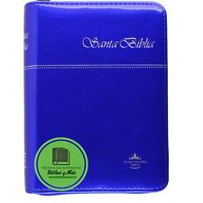 Biblia de Bolsillo Azul Full Color, Reina-Valera 60 Vinilo Indice Cierre