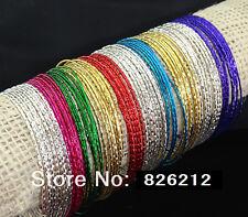 100pcs Mix Color Women Girl Charms Bangles Bracelets Wholesale Fashion Wristband