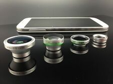 4in1 Fish Eye+Wide Angle Micro Telephoto Lens Camera Kit iPhone6 plus 5 S Galaxy