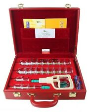 Deluxe 24 Magnetic Suction Cupping Set Cup Case GuaSha Kangzhu C24 Red New