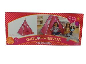 Kids Teepee Tent Indian Tent with lights for Girls in pink