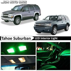 20 Bulbs Green Interior LED Lights Fits Chevy Tahoe Suburban GMC Yukon 2000-2014