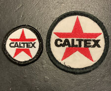 CALTEX Set Of 2 X Genuine Vintage Service Station Attendant Sew On Patch Badges