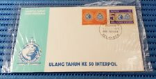 1973 Malaysia First Day Cover 50th Anniversary of Interpol Commemorative Stamp