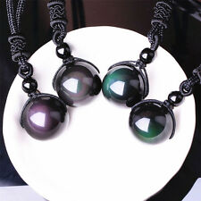1PC Hot Fashion Unisex Obsidian Stone Lucky Stone Necklace Good Luck