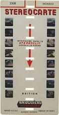 Stereocarte Bruguière n°2308 - Monaco  8 Vues - Stéréofilms