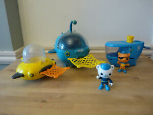 Octonauts bundle Gup C, Gup A and Gup D with nets and Barnacles BATH TOYS
