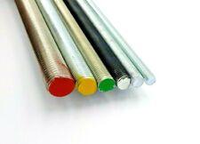 Gewindestange Bolzen 1 m. Stahl verzinkt 4.8 - 8.8 - 10.9 oder A2 A4 Edelstahl