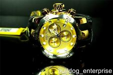 Mens Invicta Reserve Venom Chronograph Swiss Movement Gold Tone Black Watch New