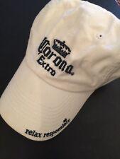 Corono Extra Baseball White/Navy Hat Adjustable Buckle Back