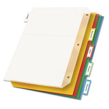 Cardinal Ring Binder Divider Pockets With Index Tabs, Letter 5/Pack- CRD84009