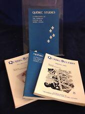 Quebec Studies American Council for Quebec Studies Jou LN 1988-90 Vol 6-9 180830