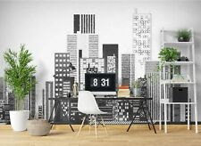 New Listing3D Grey Building Zhua8152 Wallpaper Wall Murals Removable Self-adhesive Amy