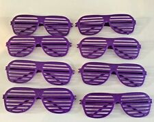 NEW (8) PURPLE VENTED BLINDERS VENITIAN  SHUTTER SUNGLASSES  KANYE WEST STYLE