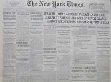 4-1937 WWII April 13 BRITAIN WILL AVOID ANY USE OF FORCE TO CURB SPANIARDS