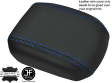 BLUE STITCHING REAL LEATHER ARMREST COVER FITS HOLDEN CRUZE JG JH 2011-2016