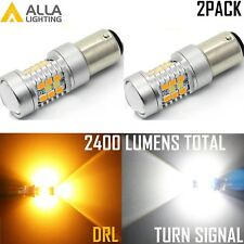 Alla 1034A 2IN1 Two-Bi-2 Dual Color White Parking|Yellow Turn Signal Light Bulb