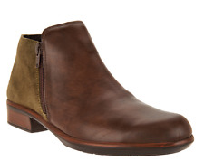 Naot Leather Ankle Boots Arizona Pecan Brown Womens Booties Helm EU41 US 10-10.5