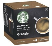12 x Starbucks GRANDE House Blend coffee pods capsules by Nescafe Dolce Gusto