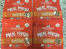 Stella & Chewy's Beef Meal Mixer 18oz 4pack + Free Raw Coated Biscuit 9oz