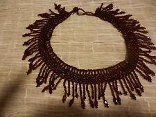 femme,neuf collier perles, idéal sur décolleté ,ambre rouille