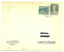NEDERLAND 1931  OLYMPIADE # 212 ON COVER WITH POSTAGE DUE  FINE