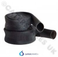 10MM BLACK HEAT RESISTANT SLEEVING CABLE WIRE HIGH TEMPERATURE  PER METER 500oC