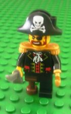 Lego Pirate Captain Minifigs Town Pirates Hook Sword City 6242 6253 6243