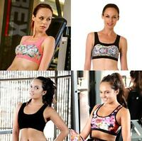 Ladies Crop Top Fitness Gym Wear Women Pilates Yoga Running Exercise Clothes