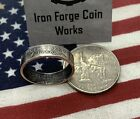 New York NY Handcrafted Washington Quarters coin ring Sizes 5-14 2001