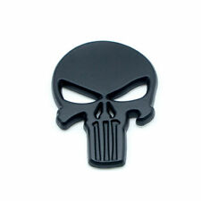 3D Black Skull Badge Dusts Car Trunk Rear Metal Emblem Styling Auto Accessories