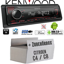 Citroen C4 C8 - Autoradio Radio Kenwood KMM-204 - MP3 | USB | iPhone - Android -