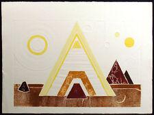 "Martha Slaymaker ""Pharoah IV"" Signed Numbered Collagraph southwestern Art"