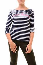 Altri WOMEN'S Maglia a maniche lunghe facciamo French Navy/Bianco Taglia US 1 RRP £ 85 BCF77